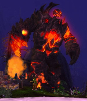 World of Warcraft Firelands boss Lord Rhyolith